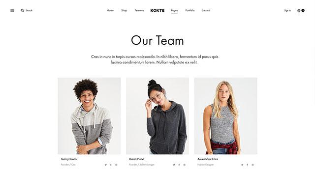 Konte - Modern & Minimal WooCommerce WordPress Theme