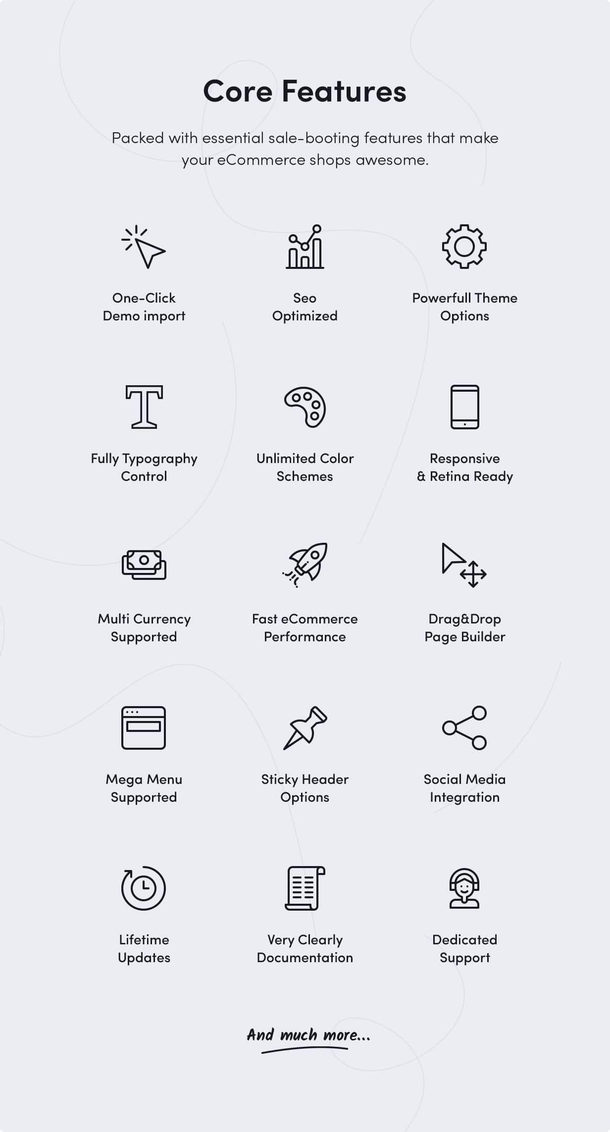 Sober WordPress theme core features
